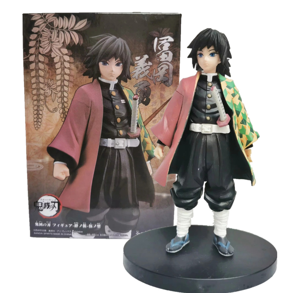 Kimetsu No Yaiba Demon Slayer Tomioka Giyuu Figure PVC Model Toy Anime Demon Slayer Figure Tomioka Giyuu Figurine Toys 150mm