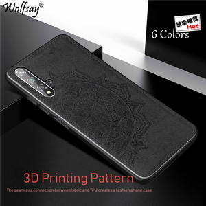 Magnetic Cotton Fabric Phone Case For Huawei Nova 5T 5 Pro Nova 6 SE P Smart Z Y6 Y7 Y9 Prime 2019 Honor 9A 9X Case Huawei P30(China)