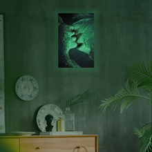 DIY Self-Adhesive Moonlight Luminous Wall Stickers PVC Glow In The Dark Room Decal Posters - Kiss New