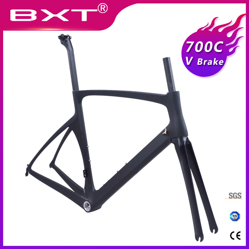 road bicycle frameset V Brake carbon road cycling frame Carbon 700c Carbon bike frame 49/52/54/56cm factory Outlet Free Shipping