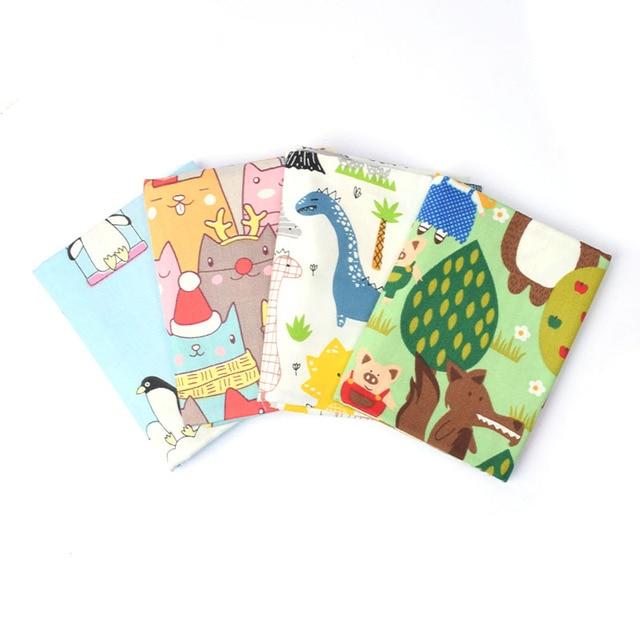 100% bawełna Cartoon tkanina ze splotem skośnym do pikowania, dzieci obrus patchworkowy, DIY szycia tłuszczu ćwiartki materiał tkaniny dla dzieci dziecko