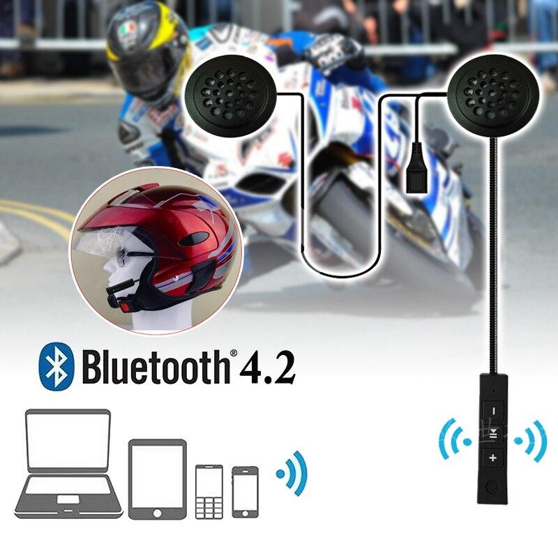 Handsfree Motorcycle Helmet Headset Speaker Mic Bluetooth MusicRechargeable NEW Headphone 215*44*15mm