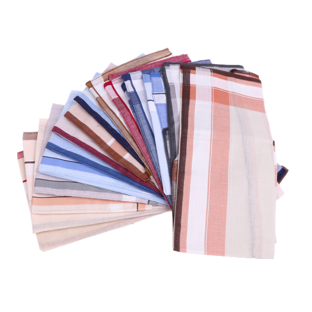 12pcs Fashion Men Handkerchiefs Pocket Square Wedding Party Hanky 40*40cm
