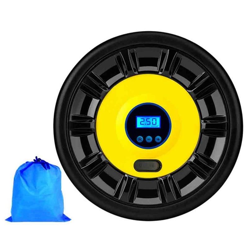 Car Air Pump Digital Tire InflatorLED Light Mini Car Air Pump 12V DC Electric Tire Pump Automatically Close for Cars  for Cars/M|Smog/Air Pump| |  - title=