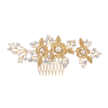 Linglewei New Hair Accessories Luxurious bridal combed alloy accessories wedding accessories combed headgear