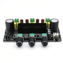 XH-M573 TPA3116D2 80W+80W+100W 2.1 Channel TPA3116 Digital Power Amplifier Board Bass Subwoofer Amplifier Black TDA3116D2 LESHP tpa3116 2 100w digital power amplifier board dual channel digital audio amplifier board module super bass ampl