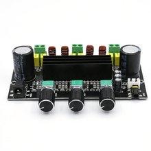 XH-M573 TPA3116D2 80W+80W+100W 2.1 Channel TPA3116 Digital Power Amplifier Board Bass Subwoofer Amplifier Black TDA3116D2 LESHP tpa3116 digital amplifier board bluetooth 4 2 high power 2 1 hifi subwoofer bass module