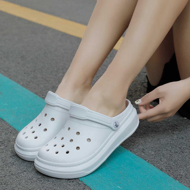 LE Crocs Carbon Hole Shoes Non-slip Hollow Sandals Slippers Beach Garden Shoe