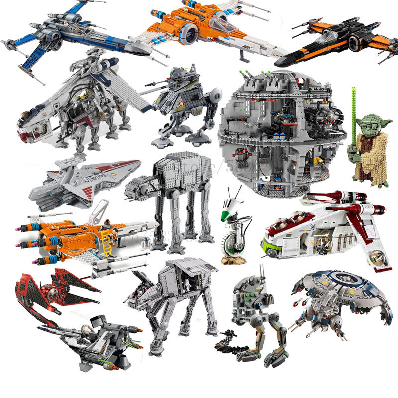 New Lepining StarWars Gunship Star Destroyer X Wing Tie Fighter AT AT Walker Building Blocks Bricks Toys Christmas Gift <font><b>05037</b></font> image