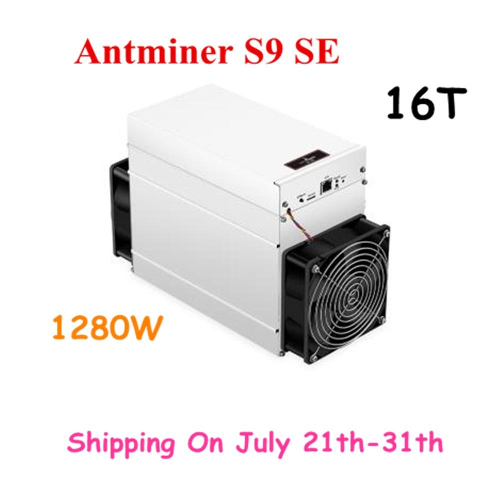 Nuevo AntMiner S9 SE 16TH/S con PSU BCH BTC minero mejor que S9 13,5 t 14t S9j 14,5 t S9k S11 S15 S17 T15 T17 WhatsMiner M3 BTC minero amor Core Aixin A1 25T con PSU económico que Antminer S9 S15 S17 T9 + T17 WhatsMiner M3X M21S Innosilicon T2T Ebit