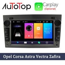 """AUTOTOP 7 """"2din Android 10.0 Radio samochodowe dla opla Vauxhall Astra H G J Vectra nawigacja GPS RDS Wifi Mirrorlink BT bez DVD"""