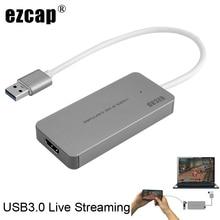 USB 3.0 TypeC فيديو بطاقة التقاط الصوت والفيديو HDMI إلى USB3.0 صندوق التلفزيون كاميرا لعبة البث المباشر تسجيل دونغل ل PS3 PS4 XBox one الهاتف