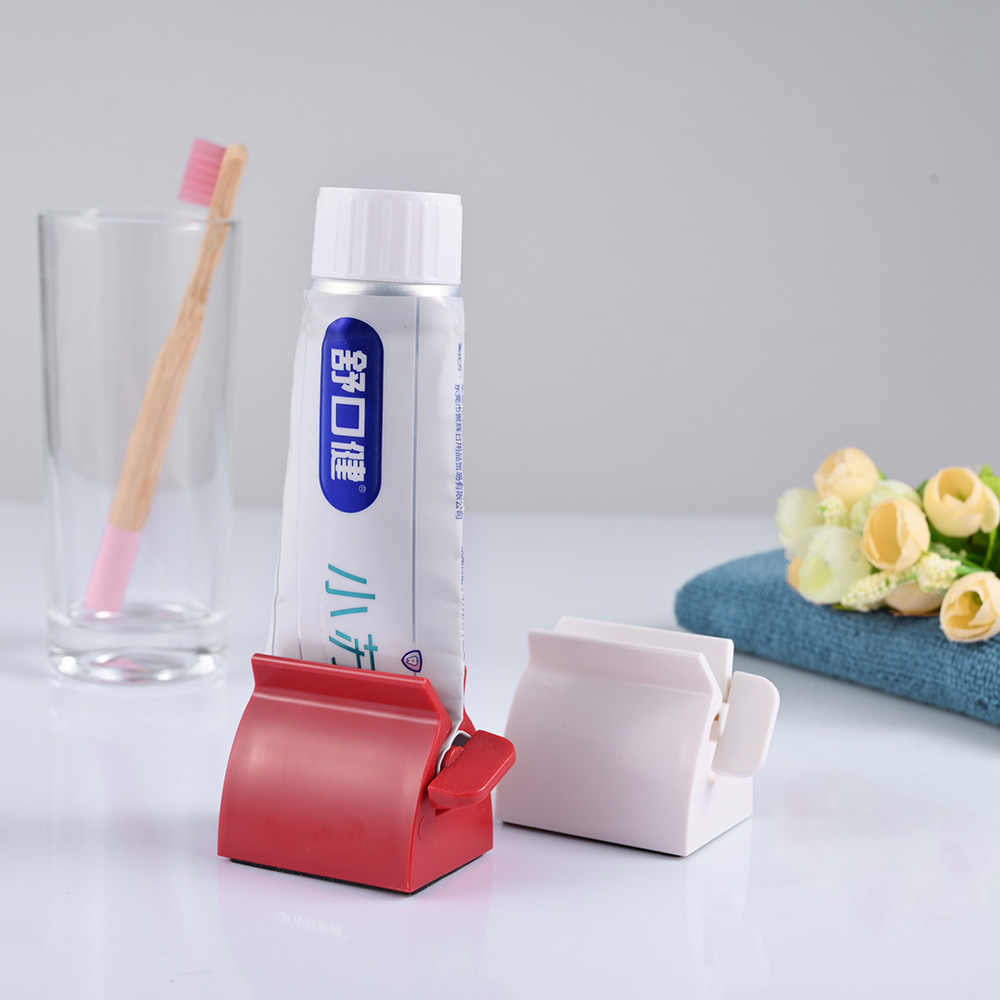 Toothpaste Rolling Tube Tooth Paste Squeezer Bathroom Accessories Tooth Holder