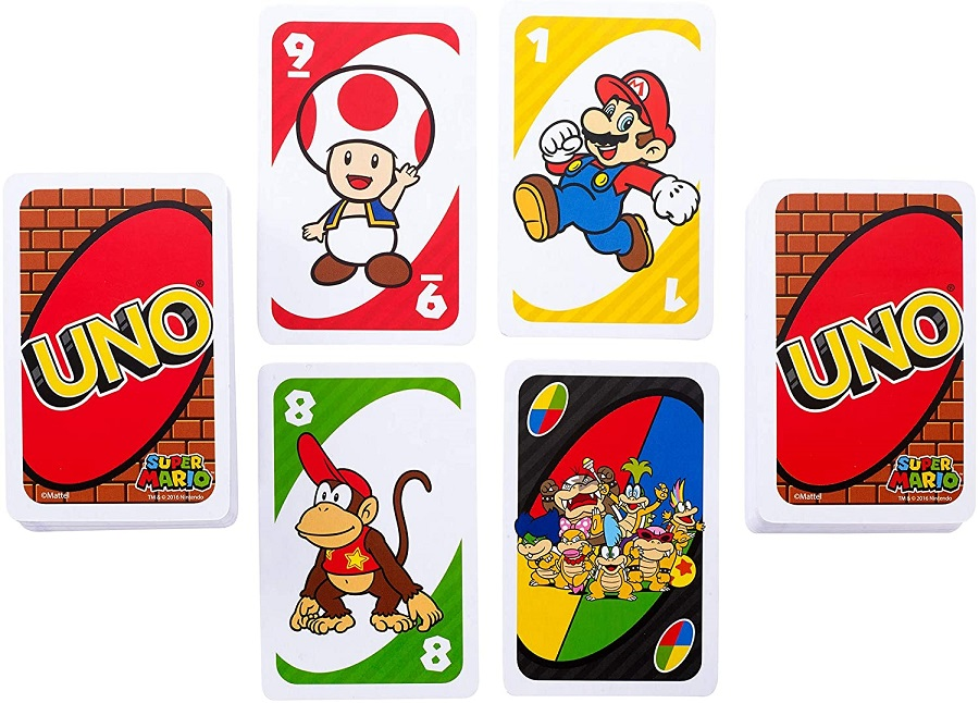 Games UNO Super Mario Card Game Family Funny Entertainment Board Game Poker Kids Toys Playing Cards