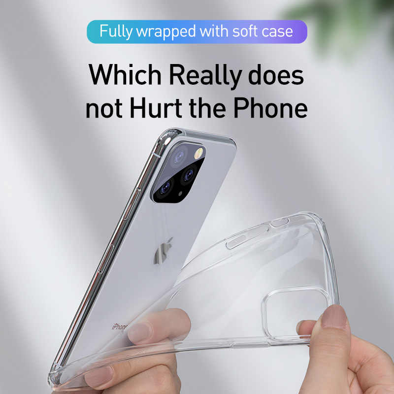 Ultra-thin transparent silicone soft case For iPhone 11 Pro X XR XS Max For iPhone 4 5 6 7 8 Plus Slim Luxury Case Coque Cover