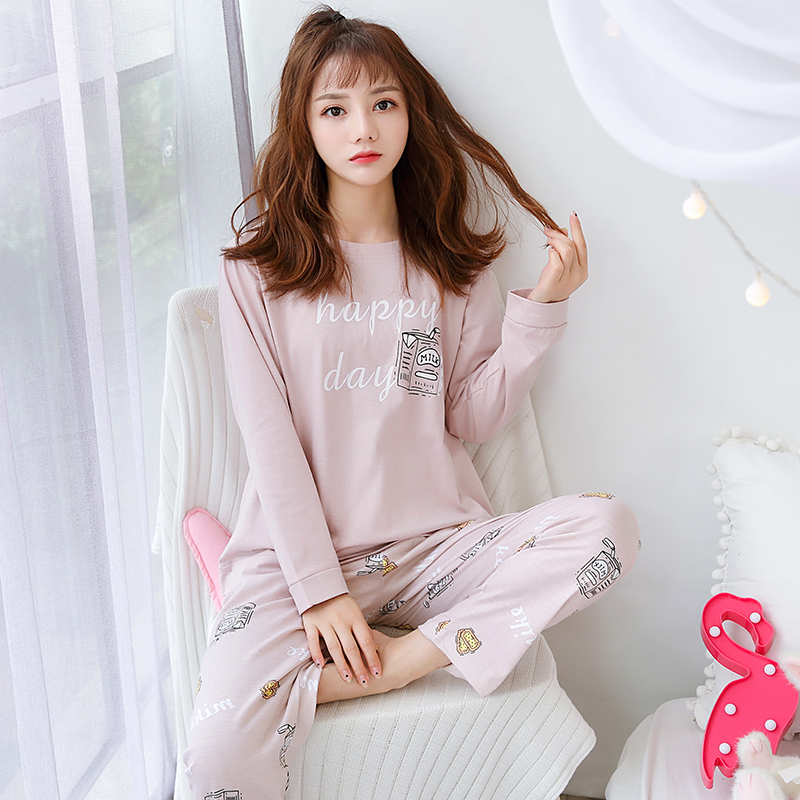 Female Casual Pajamas 2020 Spring Summer New Coming Pyjamas For Women Girl Loose Comfortable Indoor Wear Night Sleepwear