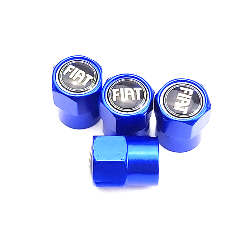 NEW Car VALVE CAP Car Styling Case For Fiat Panda Bravo Punto Linea Croma 500 595 Car-Styling Badge Accessories 4pcs