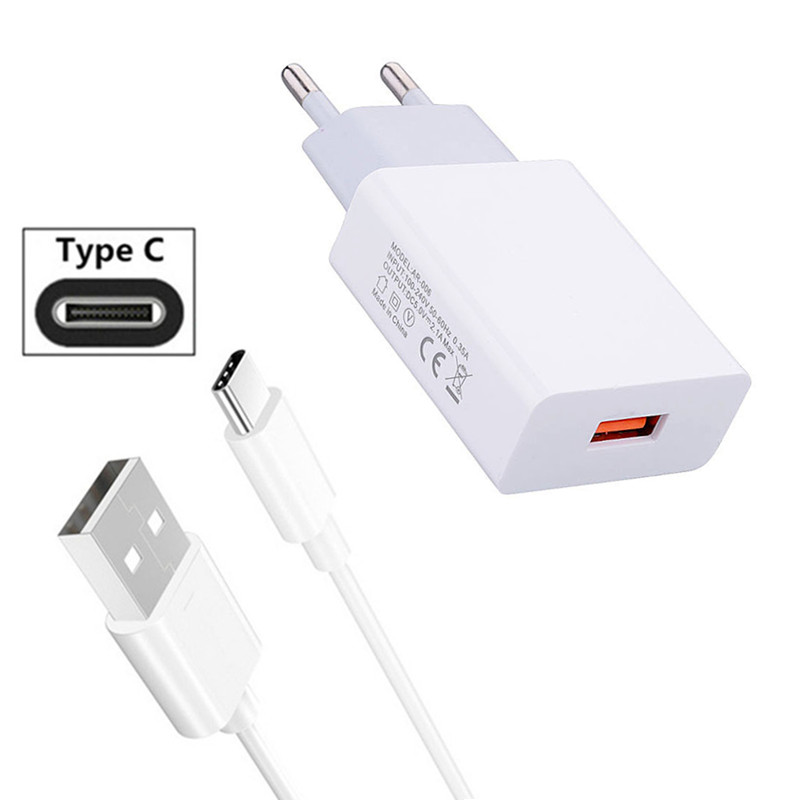 For Samsung A70 <font><b>Google</b></font> <font><b>Pixel</b></font> <font><b>3a</b></font> 3 XL Xiaomi A3 Mi 9T 9 Redmi K20 Note 7 HTC U11 10 Evo Type C Data Charge Cable Wall USB <font><b>Charger</b></font> image