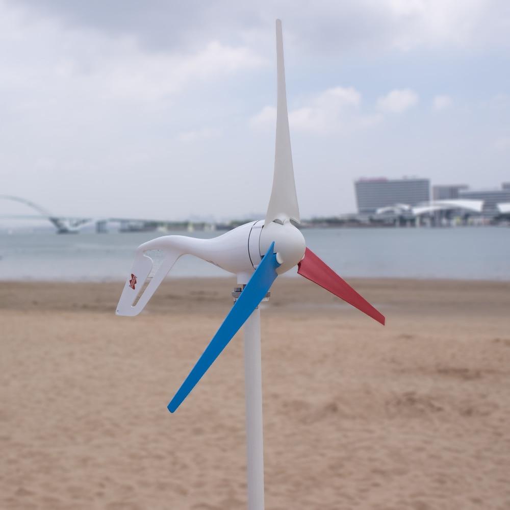 H2e241452ff9a4fdbbb02d6f0071579abL - 2019 Wind Turbine Generator 400W Mini Windmill Wind Controller 3/5/6 blades Home Small gerador eolico Charge for Marine Boat