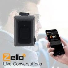 Drahtlose Bluetooth PTT Controller Hände freies Walkie Talkie Taste R16 für Android IOS Handy Niedrigen Energie für Zello arbeit