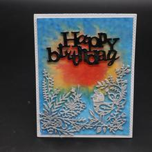 Bird on the branch cutting mold DIY scrapbook album decoration supplies clear stamp paper card