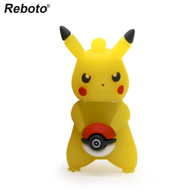 Pokemon Set Memory Stick USB 2.0 Pendrive Pink Pika Animated Cartoon Figure Flash Disk U Drive Storage Devices Creative Gift