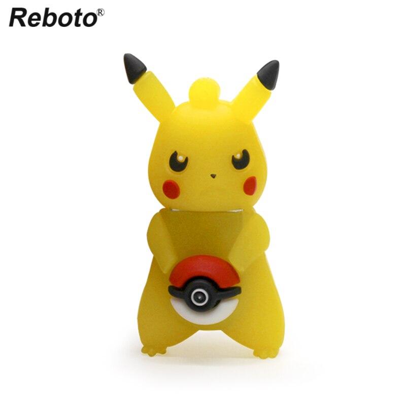 Pokemon Set Memory Stick USB 2.0 Pendrive Pink Pikachu Animated Cartoon Figure Flash Disk U Drive Storage Devices Creative Gift