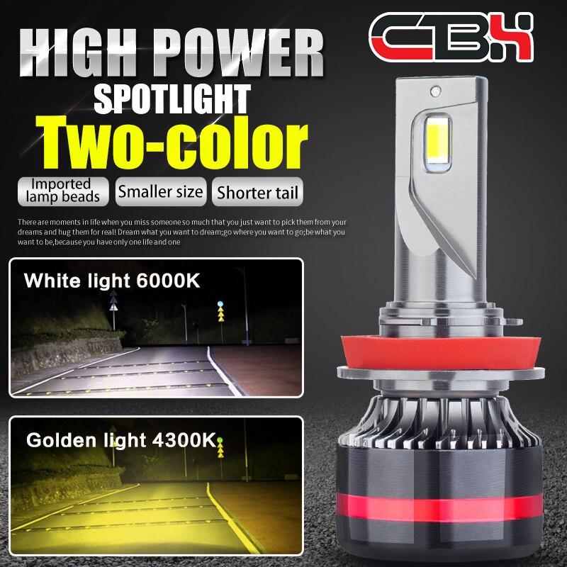 Мини Canbus H4 H7 лампа светодиодный налобный фонарь Автомобильные фары 16000 lm 4300 k, 6000 k, 8000 k лампы H1 9005 HB3 9006 HB4 H8 H9 H11 противотуманный свет