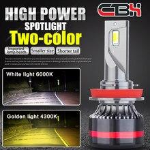 Mini canbus h4 h7 lâmpada led farol faróis do carro 16000 lm 4300 k, 6000 k, 8000 k lâmpadas h1 9005 hb3 9006 hb4 h8 h9 h11 nevoeiro ligh