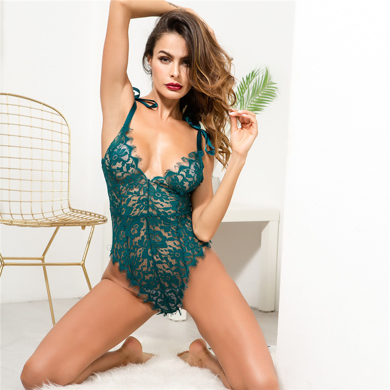 Sexy 5 Color Neon Lace Patchwork Bodysuit Women Sleeveless Backless Body Suits Transparent Mesh Embroidery Playsuits Jumpsuits