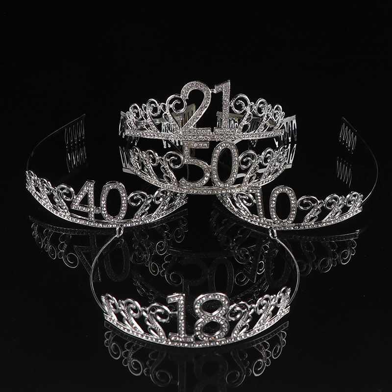 50th Birthday Tiara And Sash Happy 50th Party Supplies Decorations Silver Greeting Cards Party Supply Party Supplies
