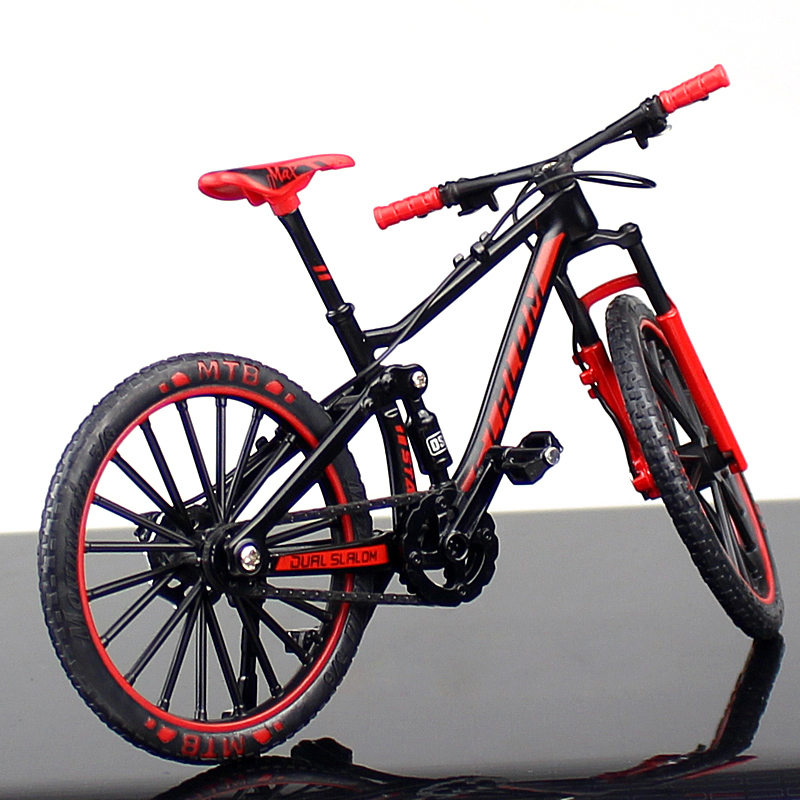 1/10 Metal Alloy Bicycle Model Toys Racing Cycle Bike Cross Mountain Bike Replica Collection Diecast For Children's Gift Display