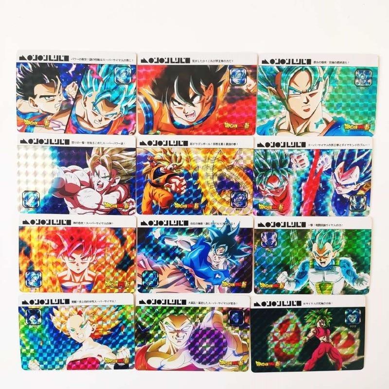 55pcs/set Dragon Ball Super Imitation France Style Heroes Battle Card Ultra Instinct Goku Vegeta Super Game Collection Cards
