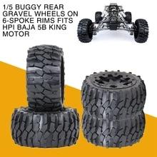 Rovan 1/5 Багги повышенной проходимости шины сзади гравия колеса на 6-спицевый диски подходит HPI Baja 5B король мотор RC автомобиль 1:5 Запчасти аксессуар