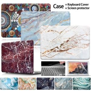 KK&LL For Apple MacBook Air Pro Retina 11 12 13 15 /Pro 13 15 Touch Bar Hard Shell Laptop case+ keyboard skin + Screen Protector(China)
