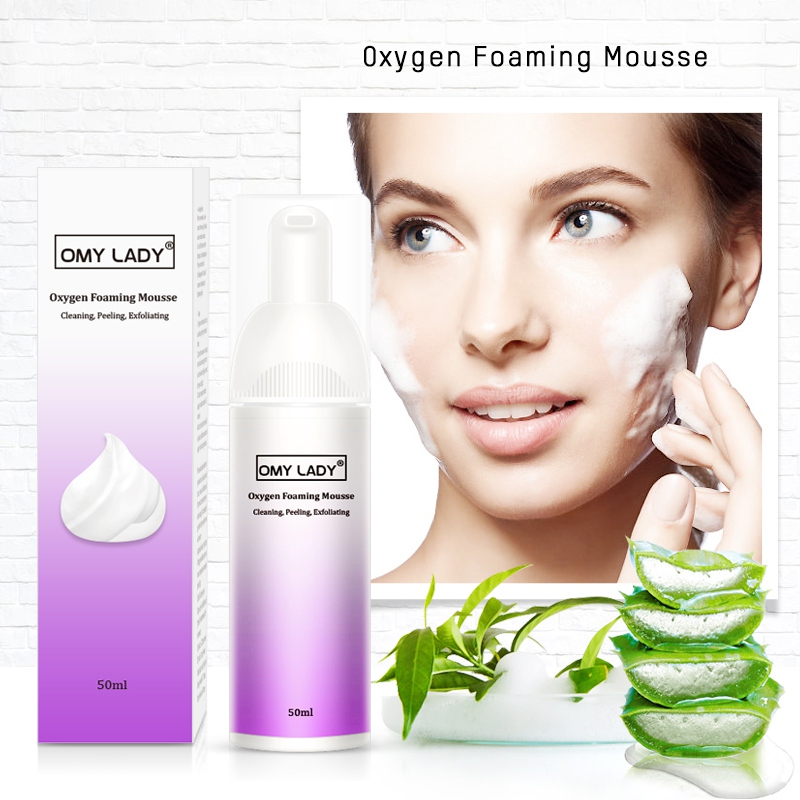 Oil Control Reducing Pores Remove Blackhead Face Cleanser Oxygen Foam Mousse Deep Cleansing Face Moisturizing Cleanser image