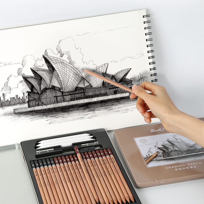 Drawing Pencil Set Professional Art Supplies  Sketch Charcoal Pencils Art Painting Stationery Set