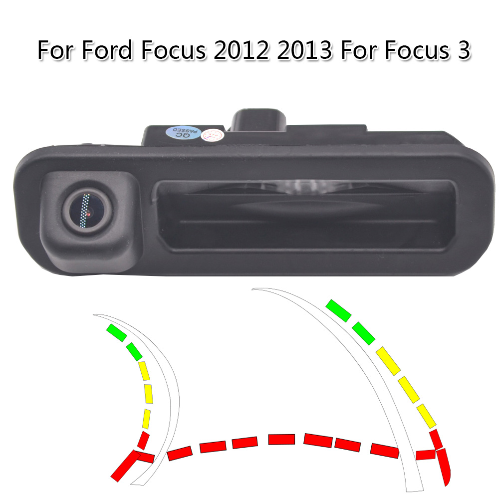 Waterproof Dynamic Trajectory Trunk Handle Camera For Ford Focus 2012 2013 Focus 3