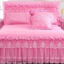 1 шт. кружевная кровать юбка+ 2 шт. наволочки постельное белье комплект принцесса постельные принадлежности простыни покрывало для девочки Постельное белье King/queen Размер