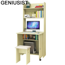 Escritorio Mueble biuro Meuble łóżko Tafelkleed małe Dobravel Schreibtisch Laptop Mesa stół biurko komputerowe z półką tanie tanio GENIUSIST NONE HOME CHINA Laptop biurko