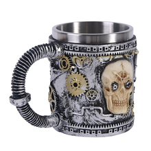 Tea Mug Beer-Mug Viking Skull Horn Coffee-Cup Pub-Bar-Decoration Halloween Stainless-Steel