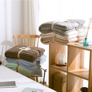REGINA Coral Fleece Twist Knit Throw Blanket