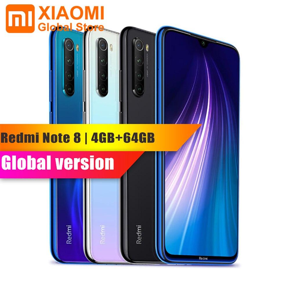 Versão global xiaomi redmi nota 8 4 gb ram 64 gb rom do telefone móvel octa núcleo de carregamento rápido 4000 mah bateria 48mp câmera smartphone