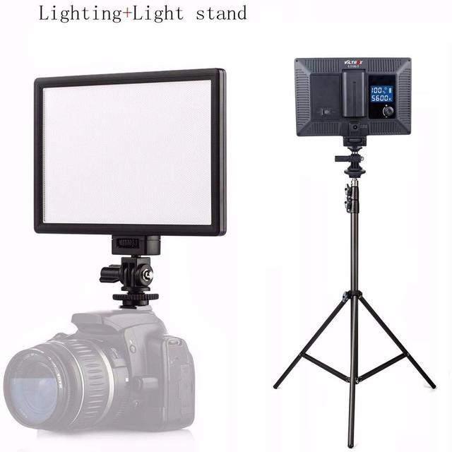 VILTROX L116T LED Camera Video Photo Light CRI95 Super Slim Studio Panel LCD Display Screen Photography Lighting For Youtube