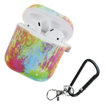 Silicone antichoc housse de protection mousqueton pour Airpods étui I10 I12 TWS Bluetooth protecteur lumineux Camouflage