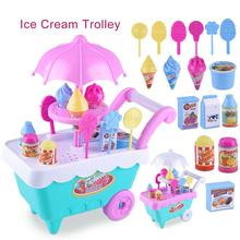 Early Learning Enlightenment Experience Shopping Le Chao Children's Simulation Candy Ice Cream Cart Girl Puzzle House Set Toys(China)