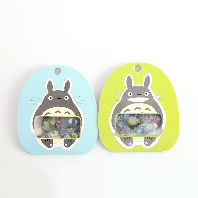 60Pcs Cute Totoro Stickers PVC Adhesives Stickers Kids Stickers For Diary Decorative Scrapbooking DIY Album Supplies Stationery