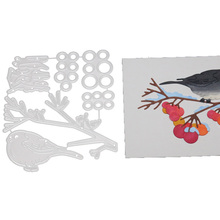 DIY Bird Fruit Tree Branch Snow Metal Steel Cutting Dies Embossing Craft Dies Scrapbooking Handmade Card Making Photo Decoration snow fruit tree branch bird metal cutting dies scrapbooking stencil die cuts card making diy craft embossing new dies for 2020