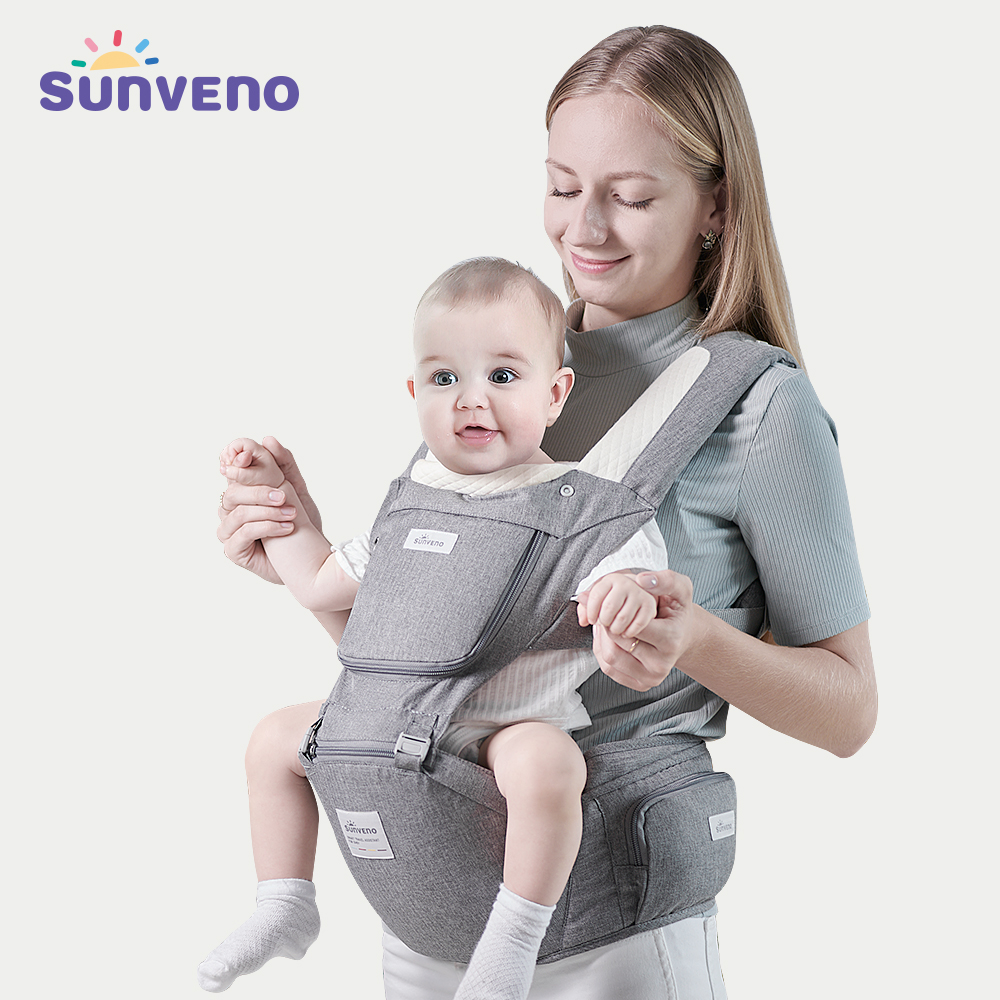Sunveno Baby Carrier Ergonomic Infant Hip seat Carrier Kangaroo Sling Front Facing Backpack Carrier Baby Travel Activity Gear