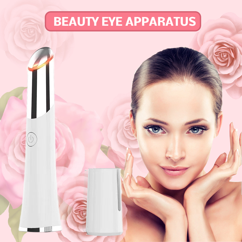 Electric Eye Massager Ionic Heating Vibration Eye Roller Lip Facial Massage Remove Wrinkles Dark Circles Bags Beauty Tools Pen